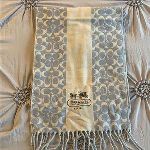 Coach cashmere/merino wool scarf